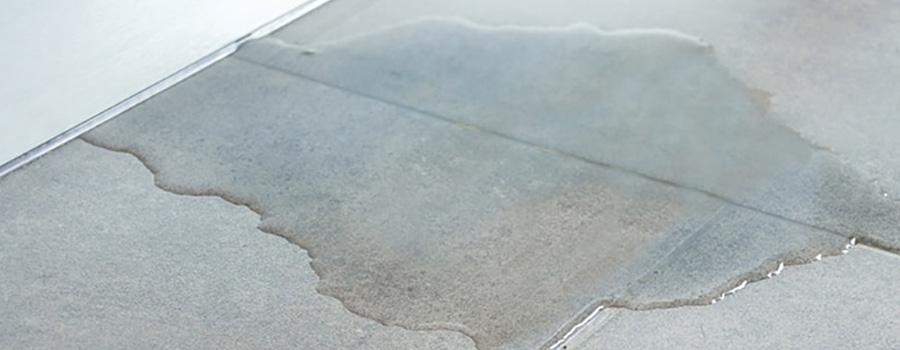 water leaks in concrete slab
